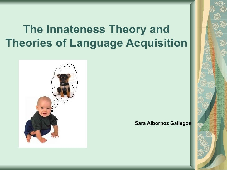 """framing the innateness hypothesis essay """"modularity in cognition: framing the debate  the modularity of mind: an essay on  introduces the massive modularity hypothesis and highlights the."""