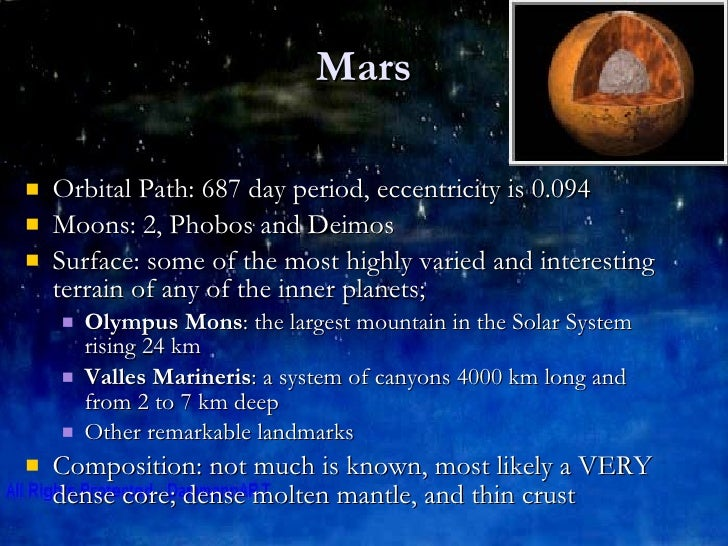 information about the inner planets - photo #27