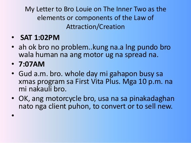 The inner two as law of attraction or creation 10 sciox Image collections