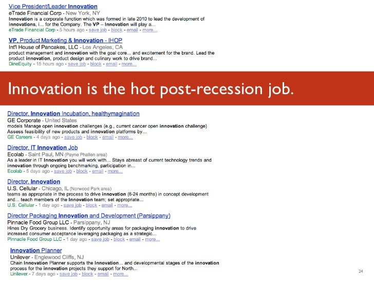 Innovation is the hot post-recession job.Luminary Labs                               24