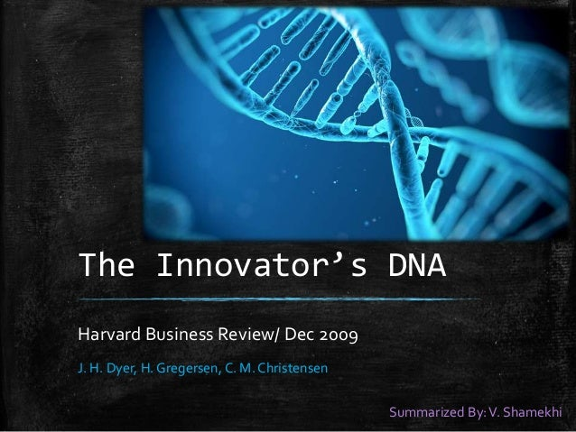 week 13 the innovator s dna