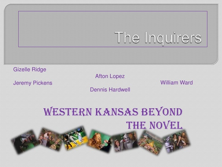 The Inquirers <br />Gizelle Ridge <br />Afton Lopez <br />Jeremy Pickens<br />Dennis Hardwell  <br />William Ward <br />We...