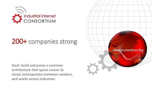 200+ Companies, 25+ Countries Contributing Members IIC Founding Members The IIC Created the Industrial Internet of Things ...