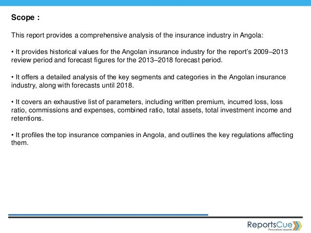 The insurance industry in angola, key trends and opportunities to 2018