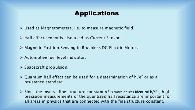 Hall Effect Sensor To Measure Magnetic Field How Does A