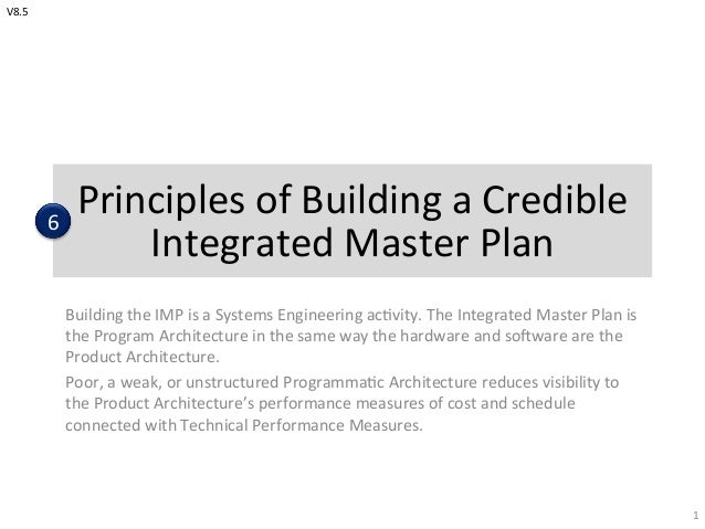 The integrated master plan and integrated master schedule
