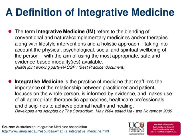 The Integration Of Traditional And Complementary Medicine