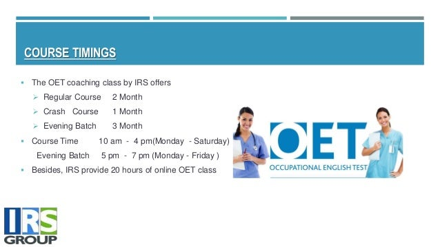 Oet study materials
