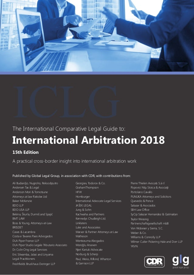 Published by Global Legal Group, in association with CDR, with contributions from: The International Comparative Legal Gui...