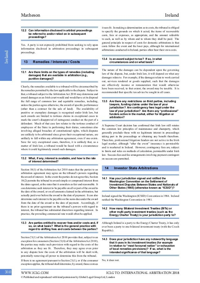 international comparative guide to international arbitration 2015