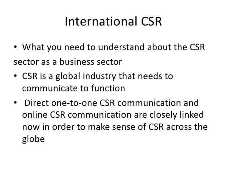 The international CSR Twitter and blogosphere Slide 2