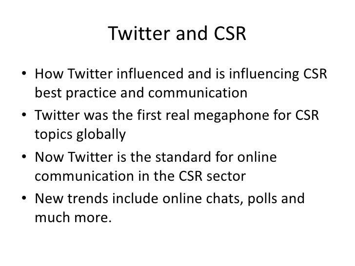 The international CSR Twitter and blogosphere Slide 3