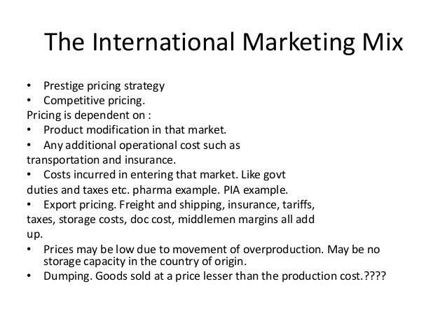 The international marketing mix ia 2