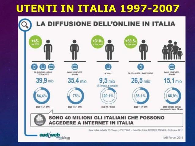 UTENTI IN ITALIA 1997-2007