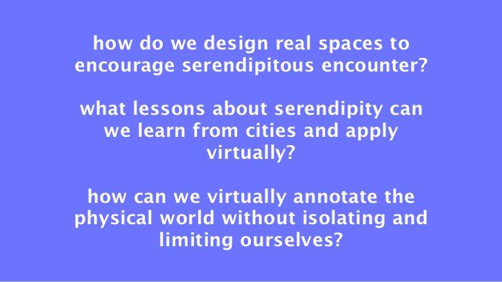 Desperately Seeking Serendipity