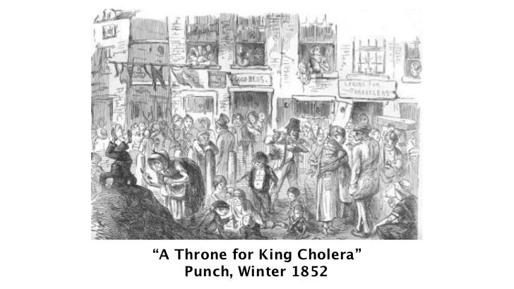 """""""A Throne for King Cholera""""    Punch, Winter 1852"""