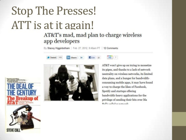Stop The Presses!ATT is at it again!