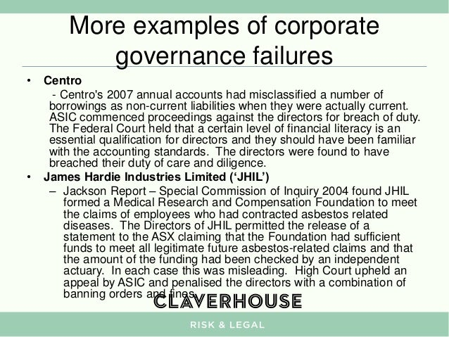 hih corporate governance failure