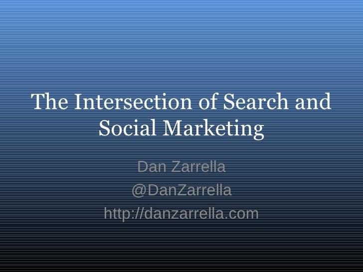 The Intersection of Search and Social Marketing Dan Zarrella @DanZarrella http://danzarrella.com