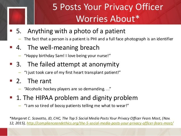 The Intersection of Social Media, HIPAA, and the Workplace