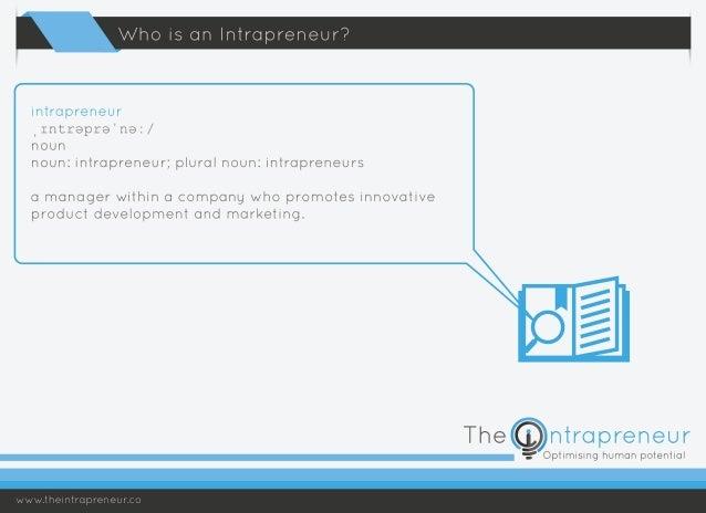 Who is an Intrapreneur? Slide 2