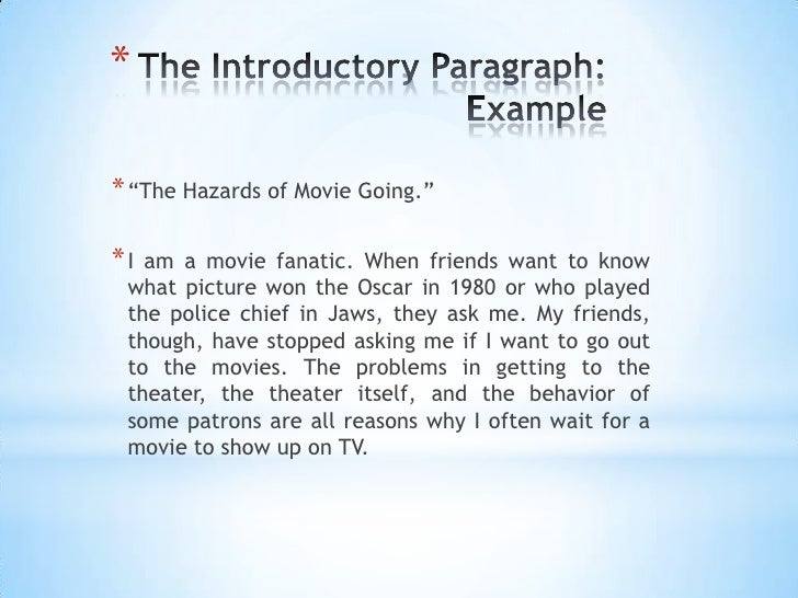 introduction movies essay Such essay consists of introduction, main body and the conclusion  now i show you how do you write a title for a comparison essay there are some steps for you .