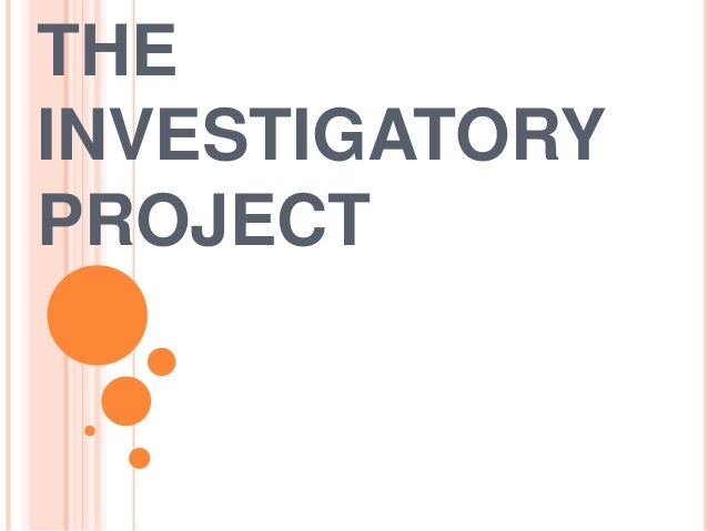 investigatory project chapter 2 Open document below is an essay on investigatory project- chapter 1 from anti essays, your source for research papers, essays, and term paper examples.
