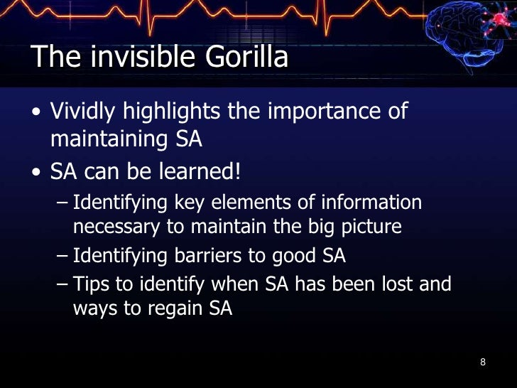 the invisible gorilla Kenny conley's invisible gorilla dick lehr brought kenny conley to dan's laboratory because he had heard about our gorilla experiment, and he wanted to see how conley would do in it conley .