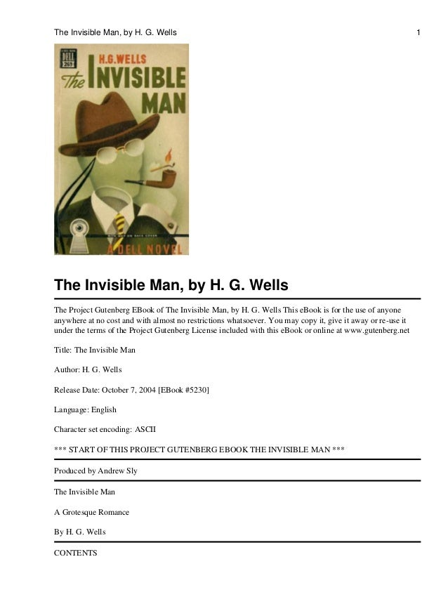 the invisible man h g wells essay questions