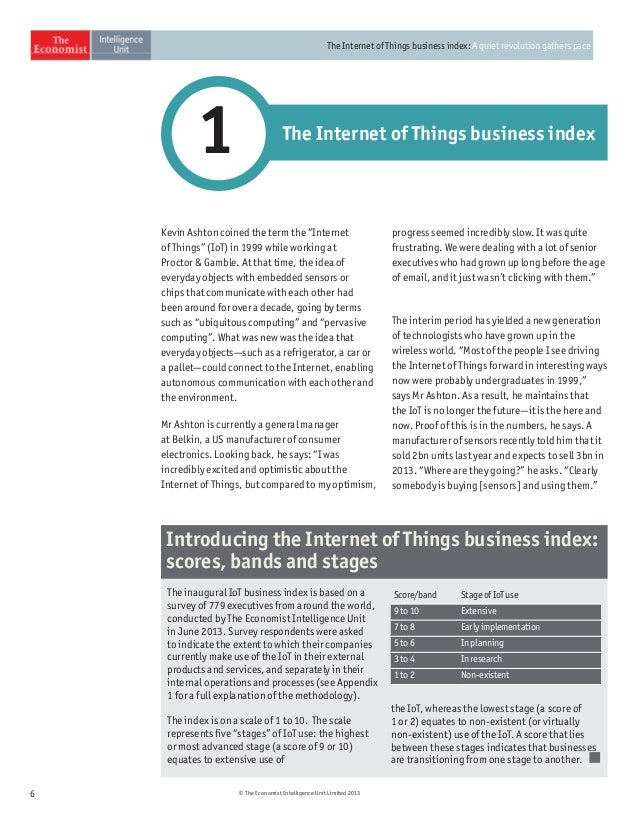 The IoT business index arm