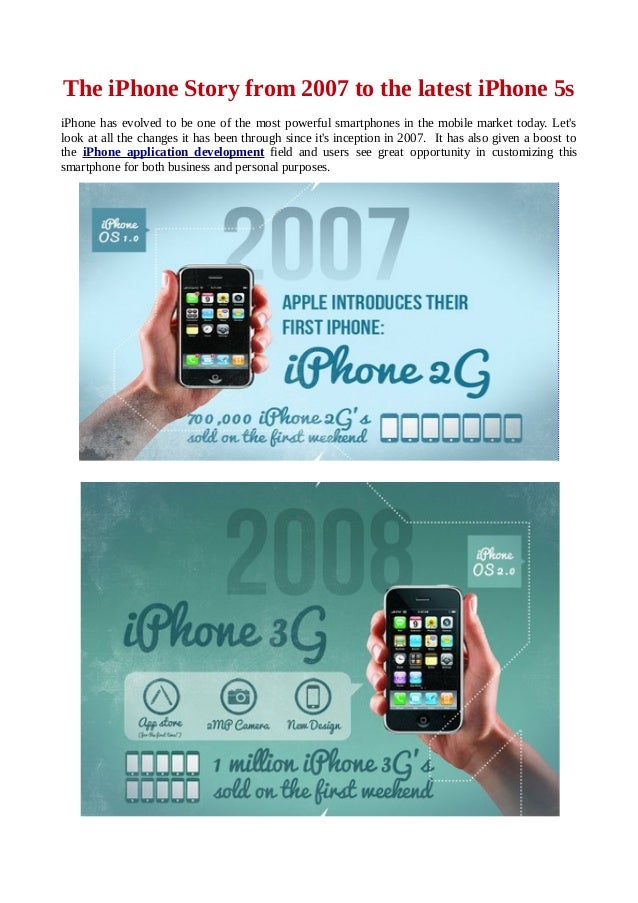 The iPhone Story from 2007 to the latest iPhone 5s iPhone has evolved to be one of the most powerful smartphones in the mo...