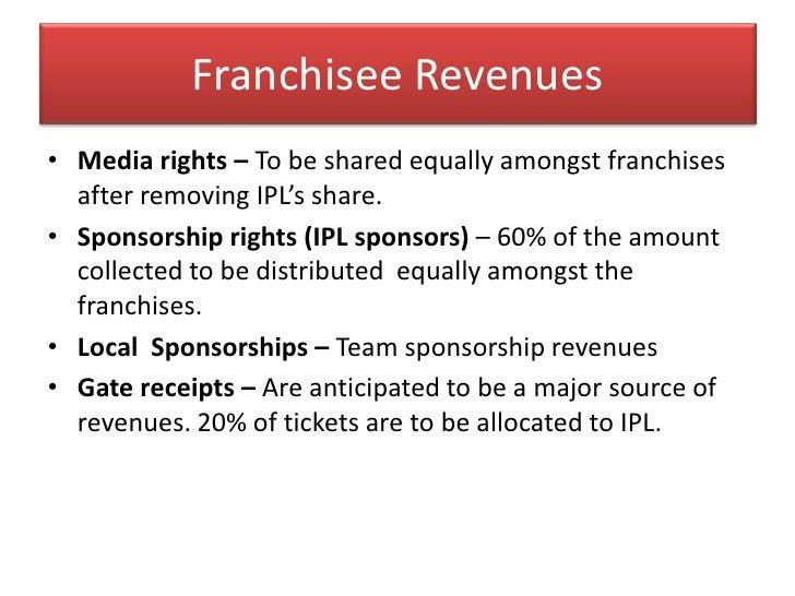 Advertisers</li></ul>BROADCASTERS<br />IPL<br />FRANCHISEES<br /><ul><li>Bids