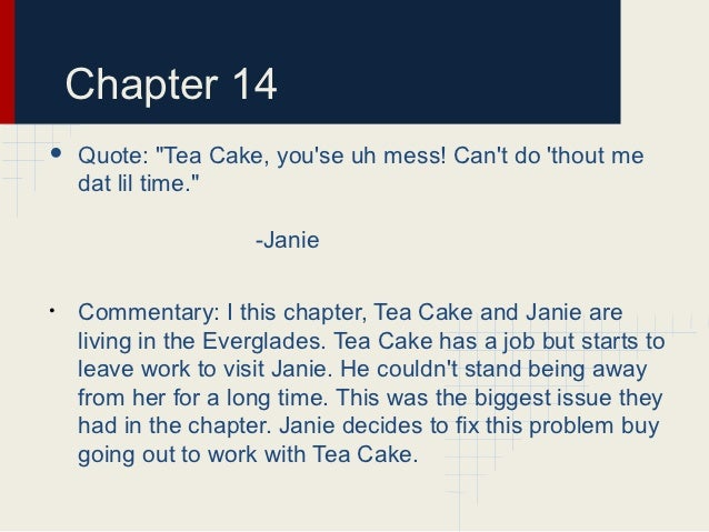 Tea Cake Quote About Janie