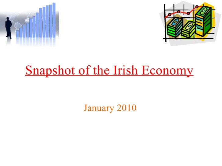 Snapshot of the Irish Economy   January 2010