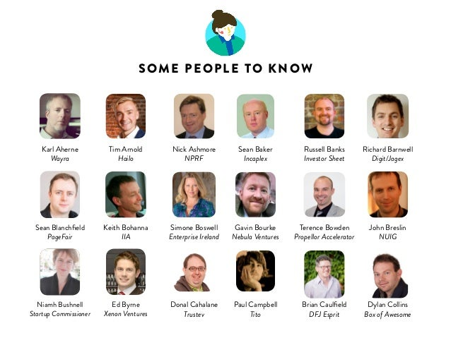 Karl Aherne  Wayra  SOME PEOPLE TO KNOW  Nick Ashmore  NPRF  Sean Blanchfield  PageFair  Ed Byrne  Xenon Ventures  Richard...