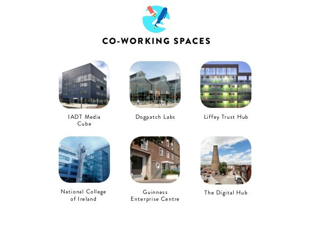 CO-WORKING SPACES  National College  of Ireland  Guinness  Enterprise Centre  The Digital Hub  IADT Media  Cube  Dogpatch ...