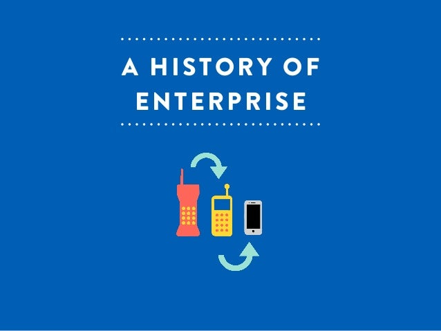 A HISTORY OF  ENTERPRISE