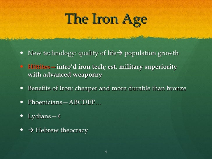 The Iron Age and The Hebrews