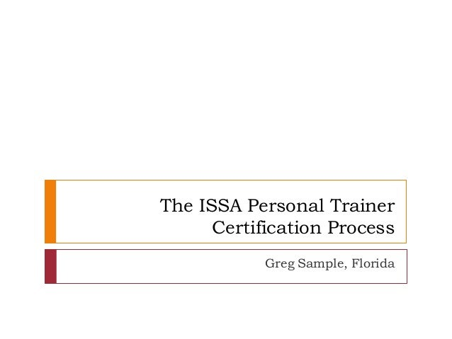 issa certification personal trainer