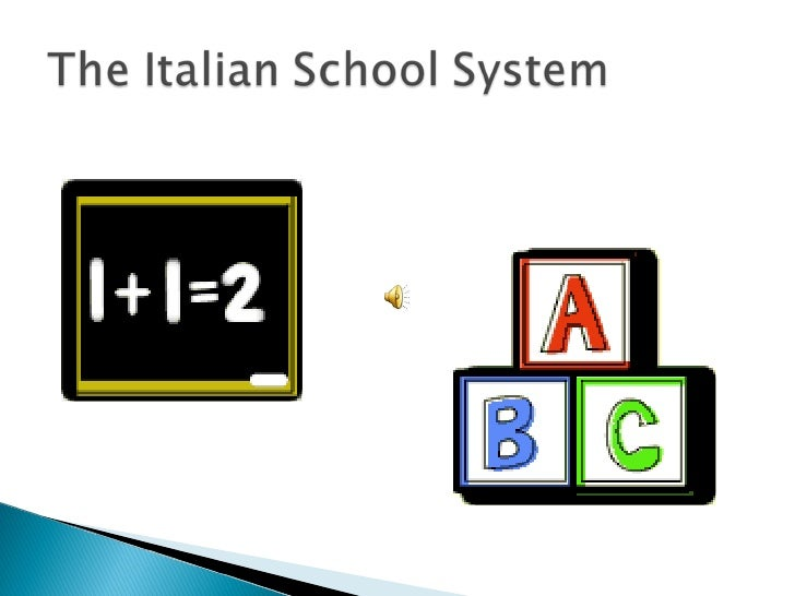STRUCTUREThe Italian educational system is stronglycentralized