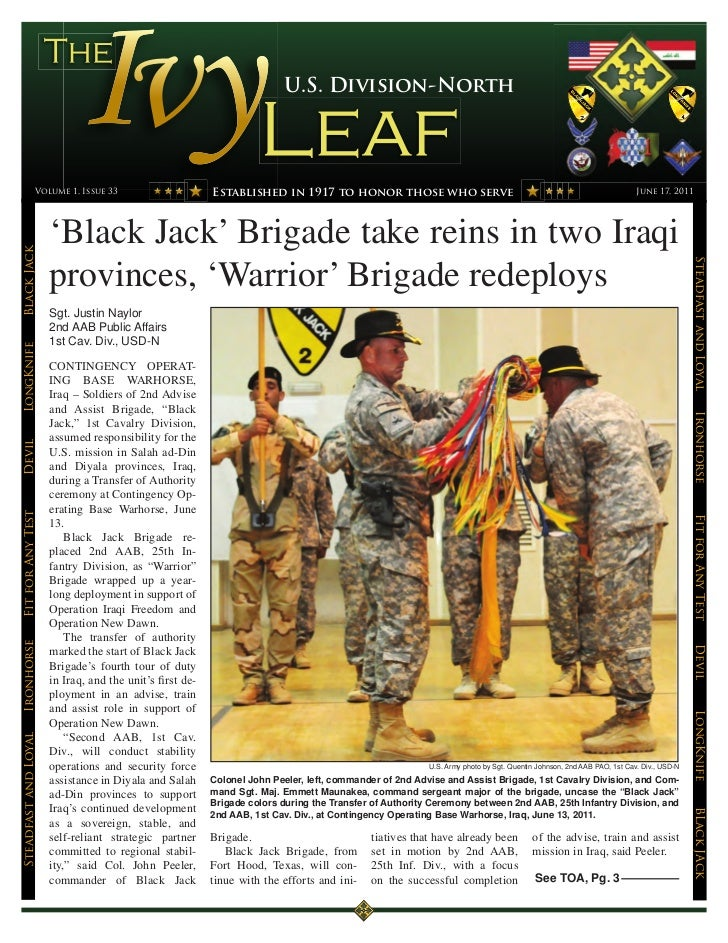 U.S. Division-North                 Volume 1, Issue 33                       Established in 1917 to honor those who serve ...
