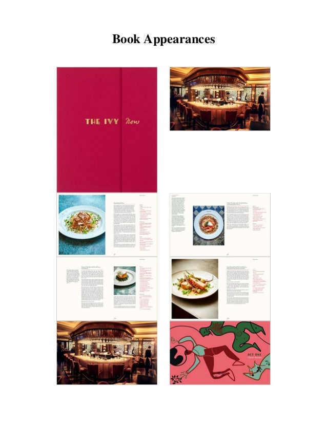 the ivy now the restaurant and its recipes