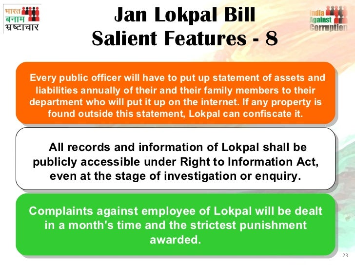 impact of lokpal bill Lokpal bill will take less time to solve the corruption cases, it is an  lack of effect is the major drawback of the prevention or corruption act,.