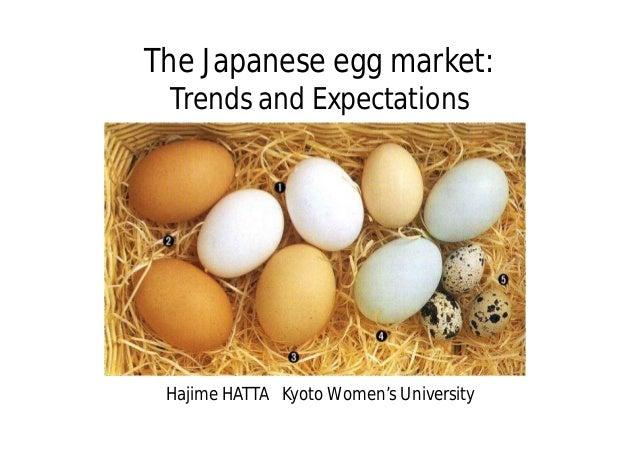The Japanese egg market: Trends and Expectations Hajime HATTA Kyoto Women's University