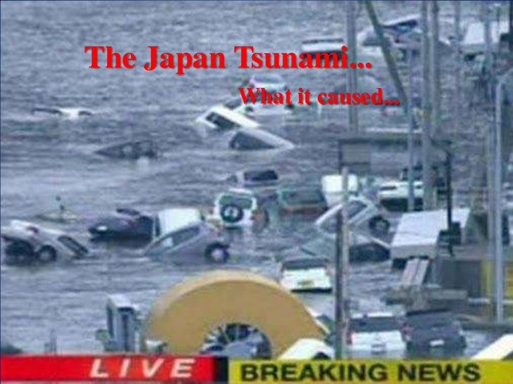 The Japan Tsunami...          What it caused...