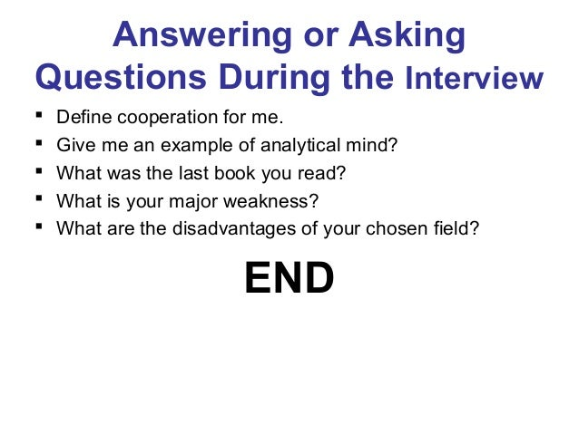 The job application process interview