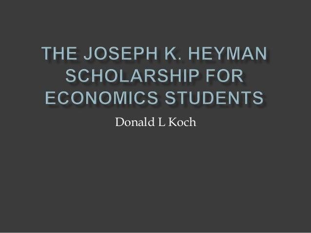 Donald L Koch