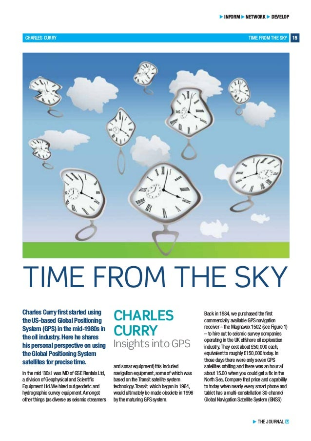 CHARLES CURRY TIME FROM THE SKY 15 INFORM NETWORK DEVELOP Charles Curry first started using the US-based Global Positionin...