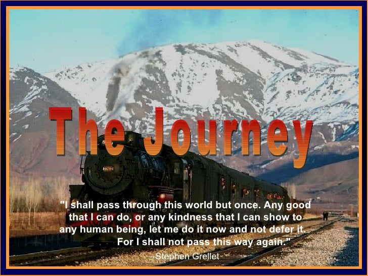 """♫  Turn on your speakers! CLICK TO ADVANCE SLIDES Tommy's Window Slideshow The Journey """"I shall pass through this wor..."""