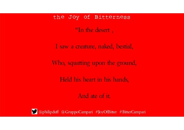 The Joy of Bitterness by Philip Duff Slide 2